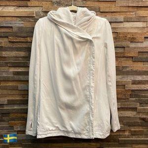 Lululemon Blissed Out Wrap Heathered White Jacket